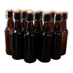 500mL Amber Flip Top Bottles (Box 12)