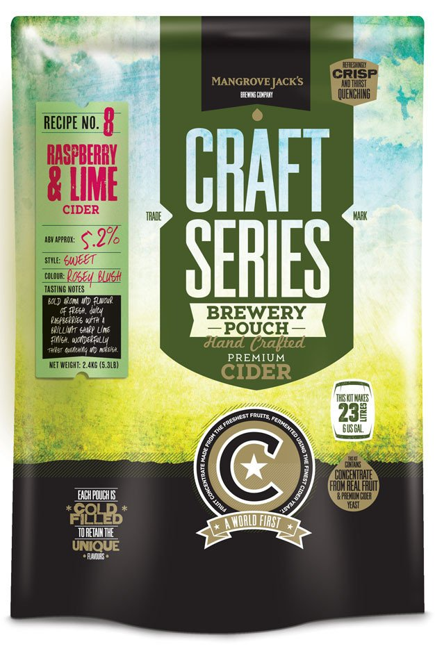 Mangrove Jacks Raspberry and Lime Cider Pouch